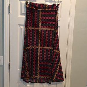 NWT LuLaRoe Maxi Skirt Large Bright and colorful
